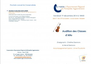 Audition Alto 19.12.2014